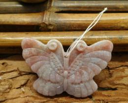 Fancy agate butterfly pendant (G1345)