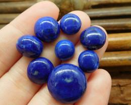 8PCS lapis lazuli cabochon beads (G1350)