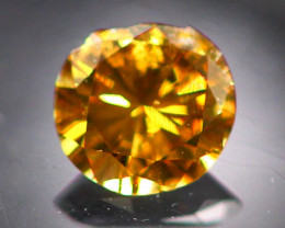 Diamond 0.21Ct Natural Fancy Cognac Color Round Diamond 22CF38