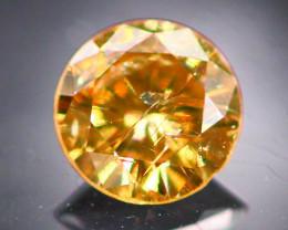 Diamond 0.21Ct Natural Fancy Champagne Color Round Diamond 22CF39