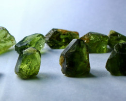 63.05 Cts Beautiful, Superb  Green Apatite Rough Lot