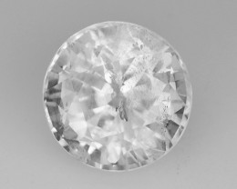 1.46 Cts Natural Silky White Sapphire Round Cut Sri Lanka