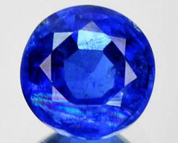 1.68 Cts Natural Royal Blue Kyanite 7mm Round Cut Nepal