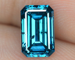 1.06 Cts Sparkling Very Rare Fancy Intense Blue Color Natural Loose Diamond