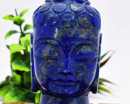 Genuine 2340.00 Cts Blue Lapis Lazuli Buddha Head