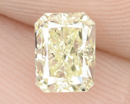 0.45 cts Untreated Natural Fancy Yellow Color Loose Diamond- VS1