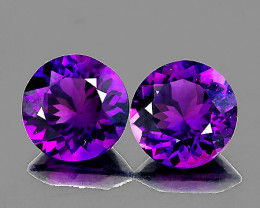8.00 mm Round 2 pcs 3.55cts Purple Amethyst [VVS]