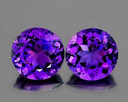 9.00 mm Round 2 pcs 5.08cts Purple Amethyst [VVS]