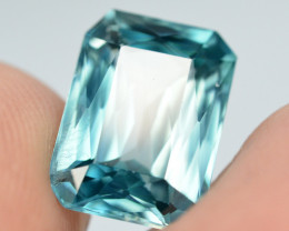 Top Blue ~5.70 Ct Natural Zircon From Cambodia