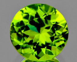 7.00 mm Round 1.83ct Green Peridot [VVS]