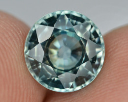 Top Blue ~4.05 Ct Natural Zircon From Cambodia