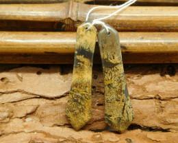 Chouhua jasper matching gemstone jewelry handmade earring (G1389)