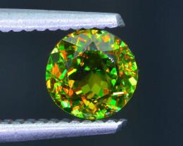 Rare AAA Fire 1.31 ct Chrome Green Sphene Sku-41