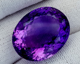 36Ct Natural Amethyst Gemstones IGCam70