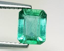 1.34 ct  IGI Certified Gem AAA Grade Octagon Cut Zambian Emerald