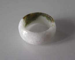 NATURAL JADE RING from BURMA...31.67cts.. size 8  1/4