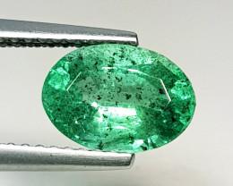 1.81 ct  IGI Certified Gem  Top Luster Oval Cut Zambian Emerald