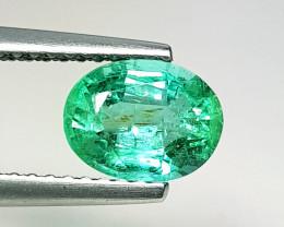1.18 ct  IGI Certified Gem  Top Luster Oval Cut Zambian Emerald