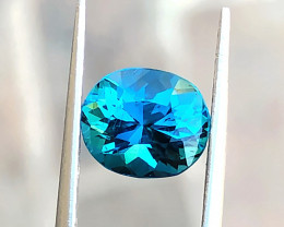 1.85 Ct Natural Blueish Indicolite Transparent Tourmaline Gemstone