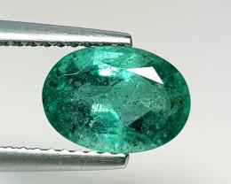 1.66 ct  IGI Certified Gem   Top Green Oval Cut Zambian Emerald