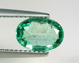 1.26 ct  IGI Certified Gem Top Luster Oval Cut Zambian Emerald