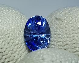 CERTIFIED 1.11 CTS NATURAL STUNNING CORNFLOWER BLUE SAPPHIRE SRI LANKA