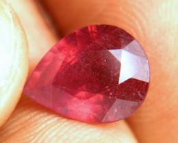 4.75 Carat Fiery Ruby Pear - Beautiful