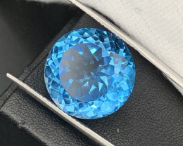 """NR""Jumbo 40.90Cts Top Quality Round Natural Topaz Master Cut"