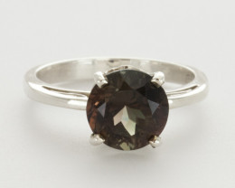 2.7ct Dichroic Sunstone, Continuum Sterling Silver Ring (S2231R)