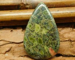 Poppy jasper cabochon bead (G1407)