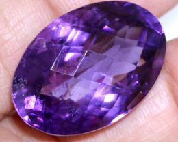 35 CTS AMETHYST FACETED STONE CG-2381