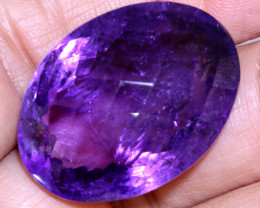 47 CTS AMETHYST FACETED STONE CG-2384