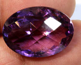 22.74 CTS AMETHYST FACETED STONE CG-2389
