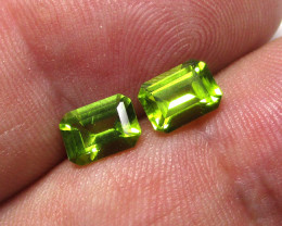 2.04cts Natural Peridot Matching Emerald Cut