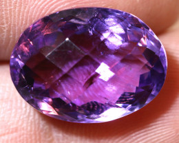 16.36 CTS AMETHYST FACETED STONE CG-2417