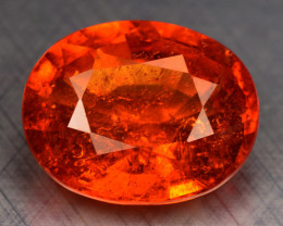 4.44 Cts NATURAL SPESSARTITE GARNET FANTA ORANGE RED LOOSE GEMSTONE