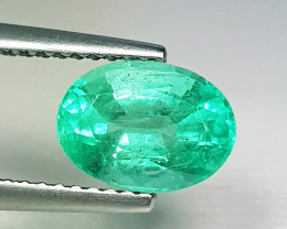 1.78 ct  IGI Certified Gem AAA Grade Oval Cut Zambian Emerald