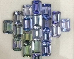 21.34 CTS-CANNOT HEATED NATURAL TANZANITE  TOP LUSTER
