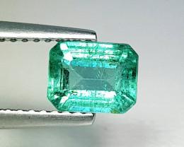 1.08 ct  IGI Certified Gem Top Luster Emerald Cut Zambian Emerald