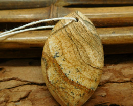 New design picture jasper pendant (G1459)