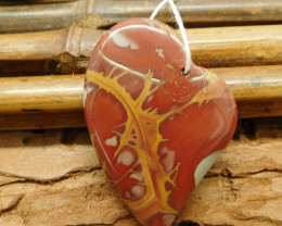 Gemstone heart shape creek jasper pendant (G1469)