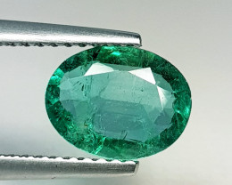 1.33 ct  IGI Certified Gem Top Grade Oval Cut Zambian Emerald