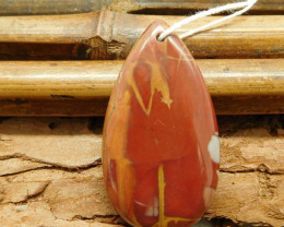 Pear shape cabochon pendant bead (G1471)