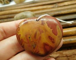 Heart shape pendant bead (G1472)