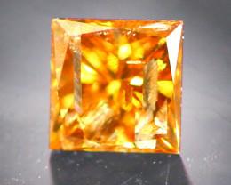 Diamond 0.21Ct Natural Princess Cut Fancy Diamond 23CF69
