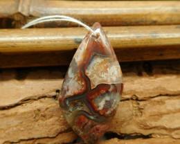 Natural crazy rosetta agate pendant (G1480)