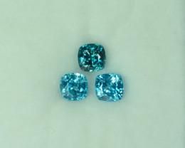 3.81 Cts Stunning Lustrous 5.5mm Blue Zircon Par