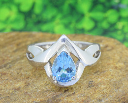 Topaz Natural 925 Sterling Silver Ring SIZE 7 (SSR0584)