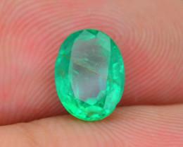 1.02 ct Zambian Emerald Vivid Green Color SKU-30