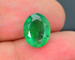 AIG Certified Top Grade 3.44 ct Zambian Emerald SKU-32